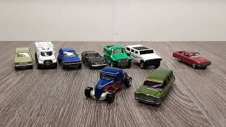 MatchBox 9 Pack Unboxing! Hot Rod and awesome Hearse