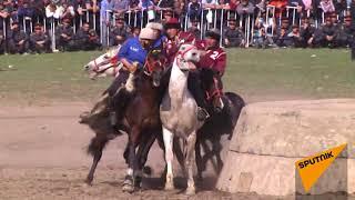 Лучшие моменты финала турнира по кок-бору в Кыргызстане