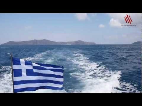 Llegar a Santorini en un crucero
