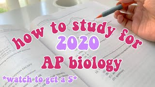 How To Study For 2020 AP Biology Exam - How To Prepare For The Ap Bio Test Free Response - Get A 5