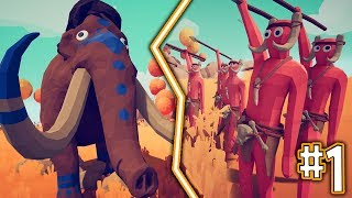 MAMMOTH VS ANGRY SPEAR MEN!! - TOTALLY ACCURATE BATTLE SIMULATOR!