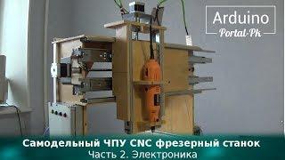 Самодельный ЧПУ CNC фрезерный станок  Часть 2  Электроника