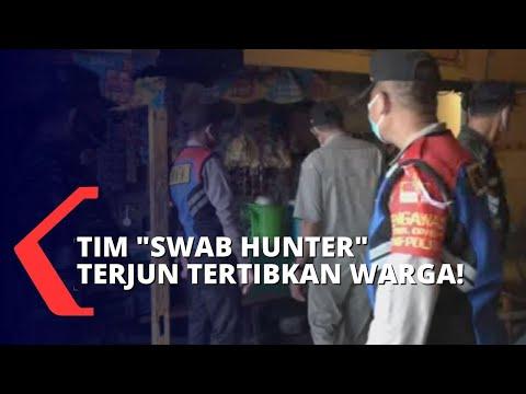 banyak warga bandel terjaring razia protokol kesehatan oleh tim swab hunter