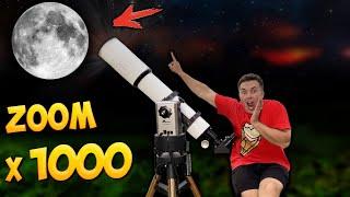 Was sieht man mit dem 1000 Fach Zoom Teleskop? Power Test