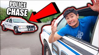 we got in a high speed police chase ...