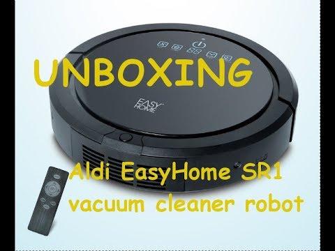 Aldi EasyHome SR1 | vacuum cleaner robot  unboxing |  robotporszívó kicsomagolás