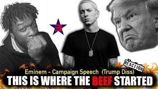 Eminem - Campaign Speech (Donald Trump Diss) REACTION!!!