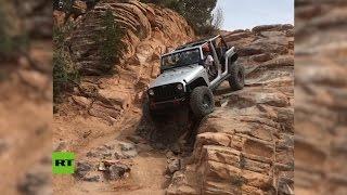 STEEL - Una actividad para personas con nervios de acero: Un todoterreno se lanza montaña abajo entre rocas
