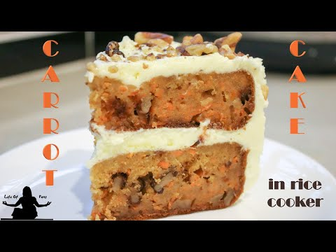 EASY RICE COOKER CAKE RECIPES: Carrot Cake with Cream Cheese Frosting