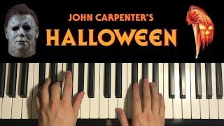how to play halloween theme by john carpenter piano tutorial lesson