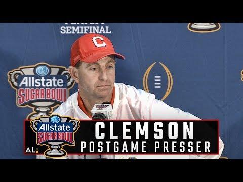 Clemson's Dabo Swinney, Kelly Bryant address the media following Sugar Bowl loss to Alabama