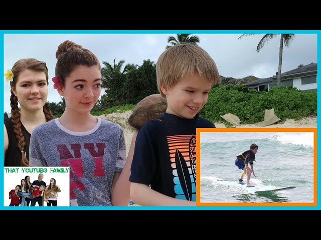 Surfing, Snorkeling, And Cracking Coconuts/ That YouTub3 Family