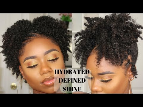 Super CUTE Hairstyle For SHORT/AWKWARD Length Natural Hair + Defined Twist Out On 4c/b Natural Hair