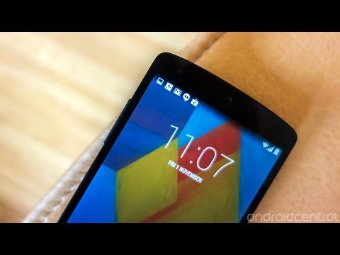 Nexus 5 and Android 4.4 KitKat video walkthrough