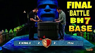 Gambar cover iTzu Vs £King£ -THE FINAL BATTLE | BUILDER HALL 7 BASE DESIGN WITH REPLAY PROOF | CLASH OF CLANS
