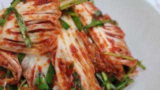 배추겉절이 황금레시피~ 맛있게하는법~ [강쉪] How To Make Kimchi