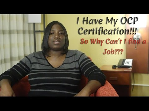 New Oracle DBA with OCP Certification but can't find a Job! Why ...