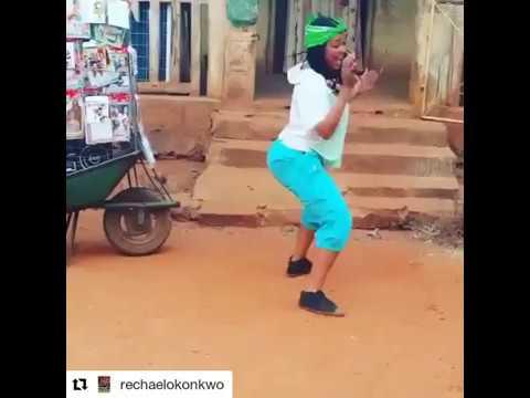 Rachael Okonkwo dancing on set