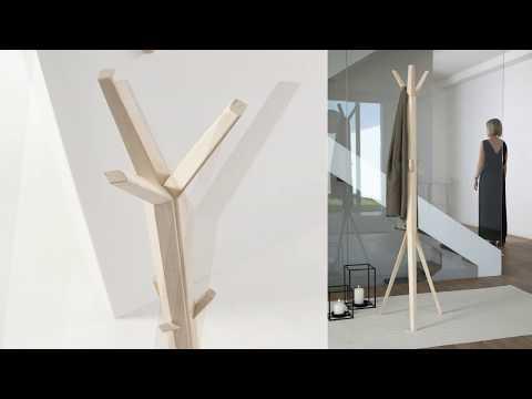 Perchero de pie Hang diseñado por Dsignio para Beltá & Frajumar