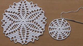 CROCHET  Doily Tutorial Pattern Crochet Motif  How To Crochet Doily Part 1