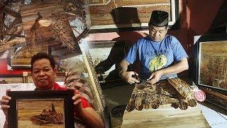 Kreatifnya Jamaluddin, Difabel Pelukis Pelepah Pisang