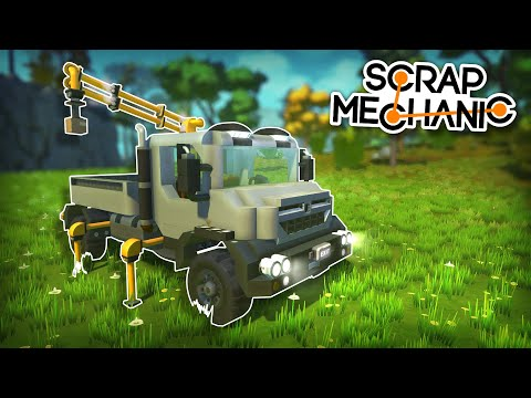 Awesome Crane Truck, a Camper Train and MORE! - Top of the Shop - Scrap Mechanic Best Builds