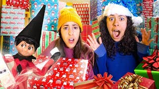 Bad Elf on a Shelf filled our room with presents Christmas Prank! Opening up 1,000 Mystery Boxes!