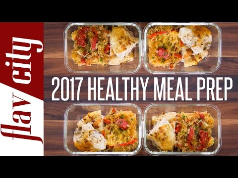 Video Clean Eating Meal Prep For 2017 - New Year Resolution Meal Prep