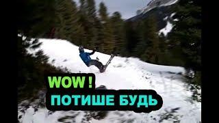 ► Красиво взлетел на лыжах с горки. Эпичное видео!