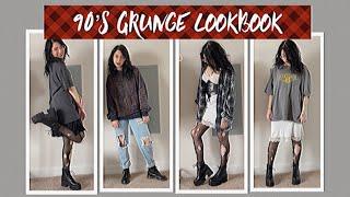 90's grunge fashion inspired lookbook