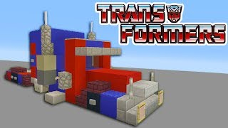 """Minecraft Tutorial: How To Make A Optimus Prime Truck """"Transformers"""""""