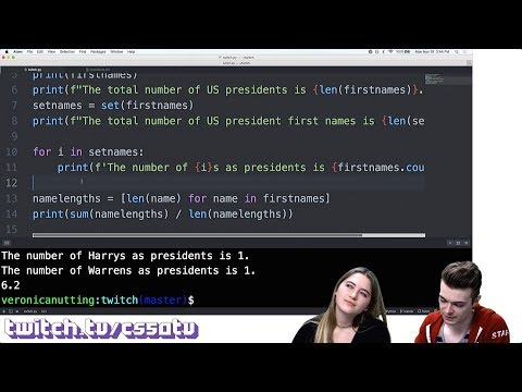 , title : '100 COOL THINGS IN PYTHON (PART 1) - CS50 on Twitch, EP. 14