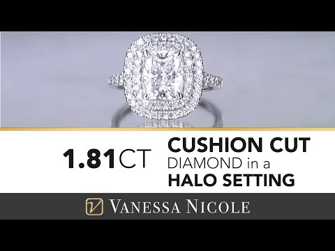 1.81ct Cushion Cut Diamond in a Double Halo for Elizabeth & Dragan