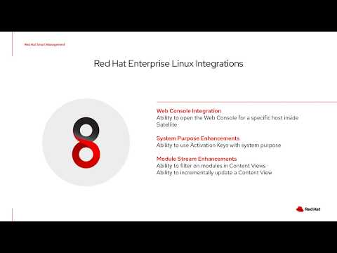 What's new in Smart Management and Satellite 6.7? - YouTube