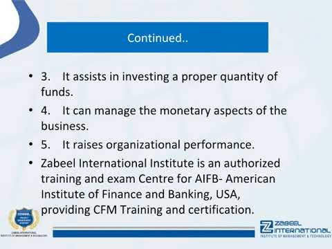 What is financial management certificate? - YouTube
