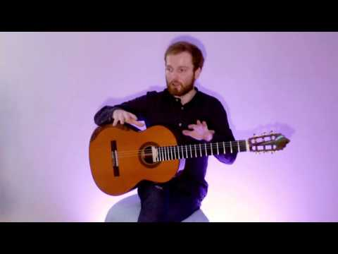 Marko Topchii talks on the new guitar by Roodenko, D'Addario strings; Etude 4 by H. Villa-Lobos