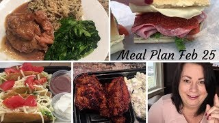 Meal Plan   Recipe Links   Feb 25