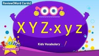 Kids từ vựng biên soạn - Words bắt đầu với X x, Y y, z Z 2