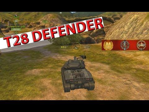 T28 Defender Защитник ПОКАЗАТЕЛЬНЫЙ БОЙ | Обзор - WoT Blitz