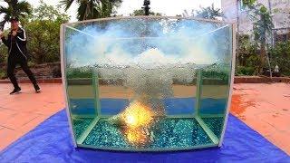 NTN - Tạo Một Vụ Nổ Dưới Nước Với 5000 Que Pháo Bông (5000 fireworks explode under water)