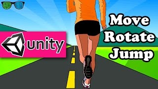 Easiest way to Move, Rotate and Jump Player in Unity 3d