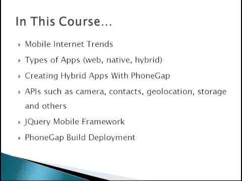 Learn to Build Mobile Apps from Scratch - Chapter 34 - Quick Wrap Up