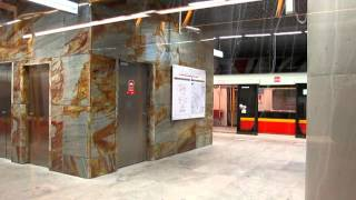 preview picture of video 'Metro in Warsaw - line M2, part 1'
