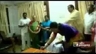 Karunanidhi Wishes To MP Kanimozhi Birthday Celebrations