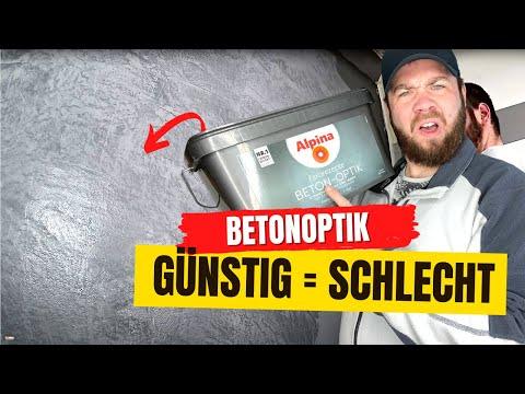 Betonoptik selber machen I Alpina Wand Spachteltechnik zum streichen [HD]