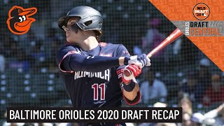 Baltimore Orioles 2020 Draft Recap