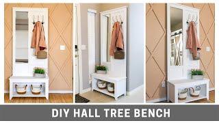 DIY Hall Tree Bench