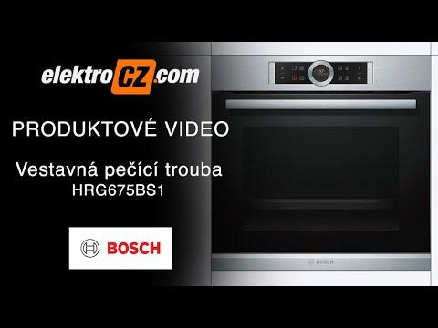 Vestavná pečící trouba Bosch HRG675BS1 s přídavnou párou k pečení