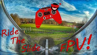 HGLRC Sector132 FPV drone down a slide!