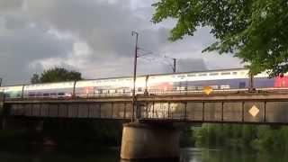 preview picture of video 'TGV DUPLEX 4729 quitte CHARLEVILLE-MEZIERES destination SEDAN'